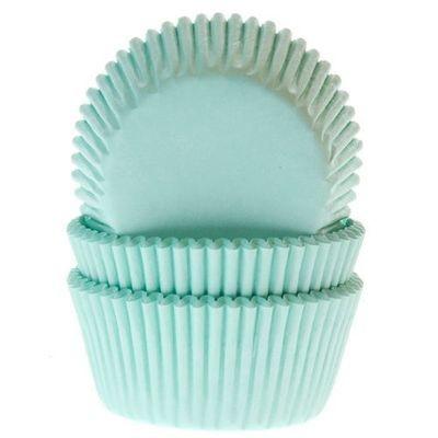 House of Marie Cupcake Cases MINT GREEN -Θήκες Ψησίματος για Cupcakes -ΜΕΝΤΑ 50τεμ