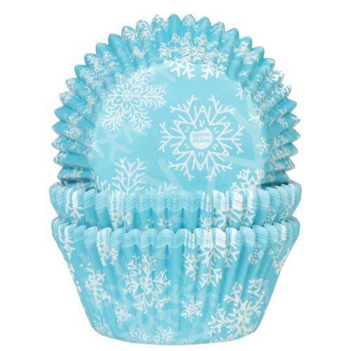House of Marie Cupcake Cases -FROZEN SNOW CRYSTALS -Θήκες Ψησίματος -ΧΙΟΝΟΝΙΦΑΔΕΣ 50 τεμ