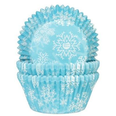 House of Marie - Themed Baking Cases FROZEN SNOW CRYSTALS Pack of 50 -Θήκες Ψησίματος για Cupcakes -ΧΙΟΝΟΝΙΦΑΔΕΣ -50τεμ