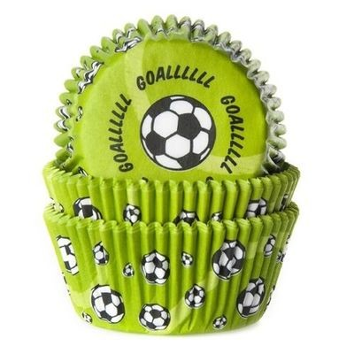 House of Marie - Themed Baking Cases SOCCER/FOOTBALL Pack of 50 -Θήκες Ψησίματος για Cupcakes -ΠΟΔΟΣΦΑΙΡΟ -50τεμ