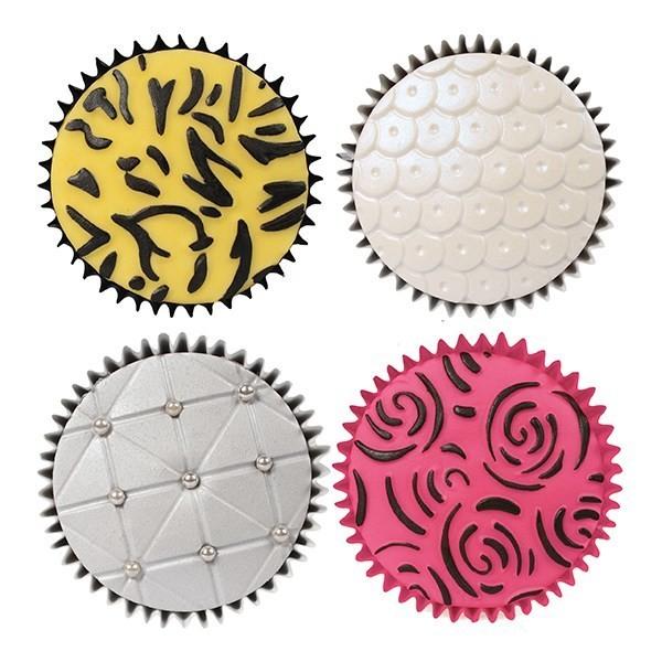 Cake Star Texture Mats -FASHION -Ανάγλυφα Φύλλα Μόδα 6 τεμ.