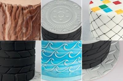 Cake Star Texture Mats -OUTDOOR ADVENTURES -Ανάγλυφα Φύλλα Υπαίθρια Περιπέτεια 6 τεμ.