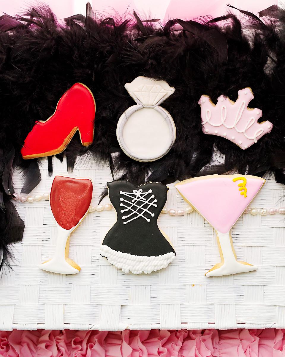 By AH -Set of 6 Cookie Cutters 'GIRLS' NIGHT -Κουπάτ Νυχτερινή Έξοδος 6.5-10εκ