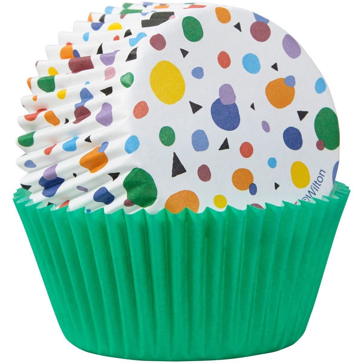 By Wilton -Cupcake Cases -MAX DOTS TRIANGLES -θήκες ψησίματος 75τεμ