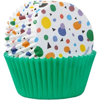 Wilton Baking Cups MAX DOTS TRIANGLES -θήκες ψησίματος 75τεμ
