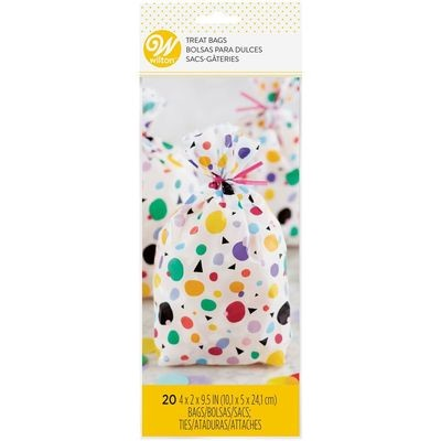 Wilton Treat Bags -MAX DOTS TRIANGLES Pack of 20