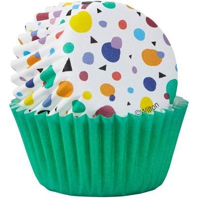 Wilton Cupcake Cases -MINI -MAX DOTS TRIANGLES -μίνι θήκες ψησίματος 100τμχ