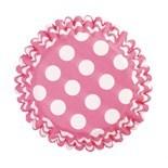 Cake Star Cupcake Cases -POLKA DOTS -CERISE -Θήκες για Cupcakes -Κερασί Πουά 54 τεμ