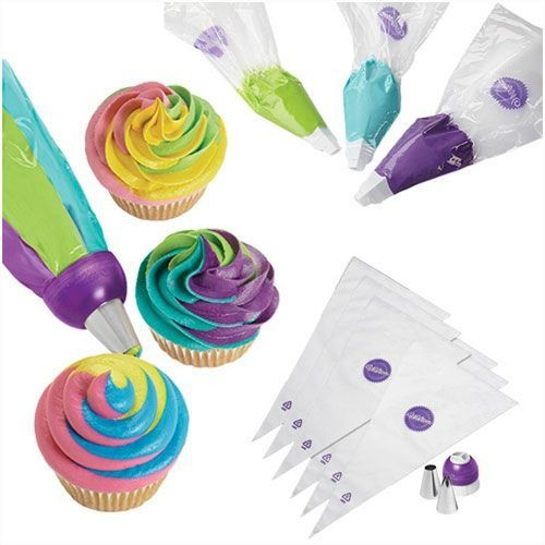 Wilton ColorSwirl Tri-Color Coupler Decorating Set of 9 - Τριπλός ζεύκτης για κορνέ.