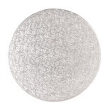 "Cake Drum ROUND Silver 25cm (10"") - Ασημένια Στρογγυλή Βάση 25εκ - Πάχος 13χιλ"