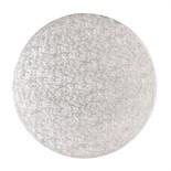 "Cake Drum ROUND Silver 35cm (14"") - Ασημένια Στρογγυλή Βάση 35εκ - Πάχος 13χιλ"