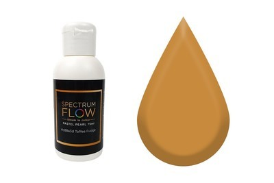 Spectrum Flow Edible Airbrush Paint -PASTEL MATT TOFFEE FUDGE -Χρώμα Αερογράφου 45ml
