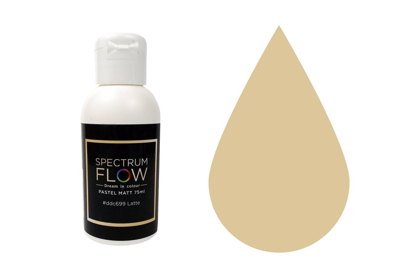 SALE!!! Spectrum Flow Edible Airbrush Paint -PASTEL MATT LATTE -Χρώμα Αερογράφου 45ml