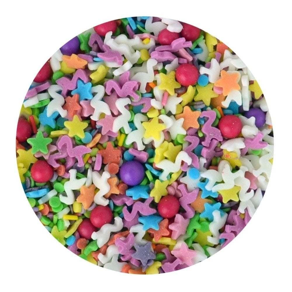 Sprinkletti Edible Sprinkles FIESTA  -Μείγμα Κονφετί με φλαμίνγκο -100γρ