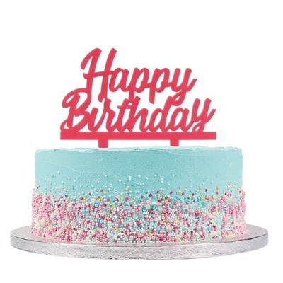 Cake Star Topper -'Happy Birthday' -PINK -Τόπερ Τούρτας