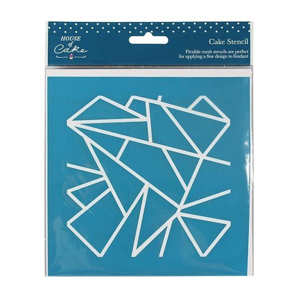 House of Cake Mesh Stencil -GEOMETRIC -Στένσιλ Γεωμετρικά σχήματα