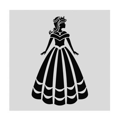 Cake Star Stencil -PRINCESS -Στένσιλ Πριγκίπισσα