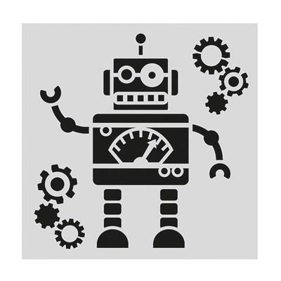 Cake Star Stencil -ROBOT -Στένσιλ ρομπότ