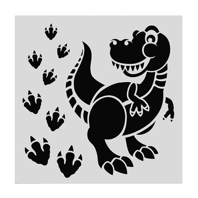 SALE!!! Cake Star Stencil -CUTE DINOSAUR -Στένσιλ Δεινόσαυρος