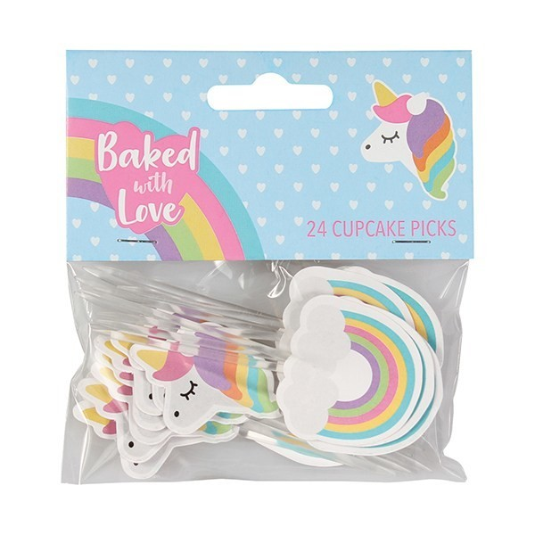 Baked With Love Cupcake Toppers -UNICORNS -Τόπερ Μονόκερος-24τεμ