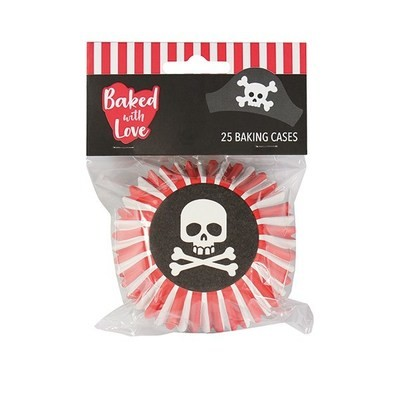Baked With Love Baking Cases -PIRATE -Θήκες ψησίματος μεταλλικές Πειρατής 25 τεμ