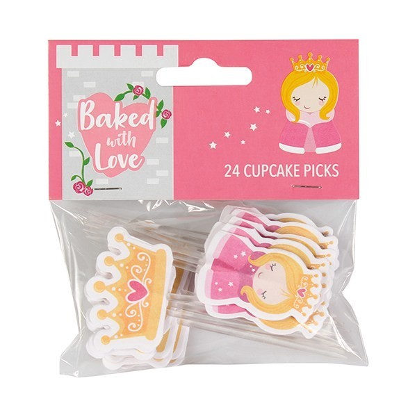 Baked With Love Cupcake Toppers -PRINCESS -Τόπερ Πριγκίπισσα  -24τεμ
