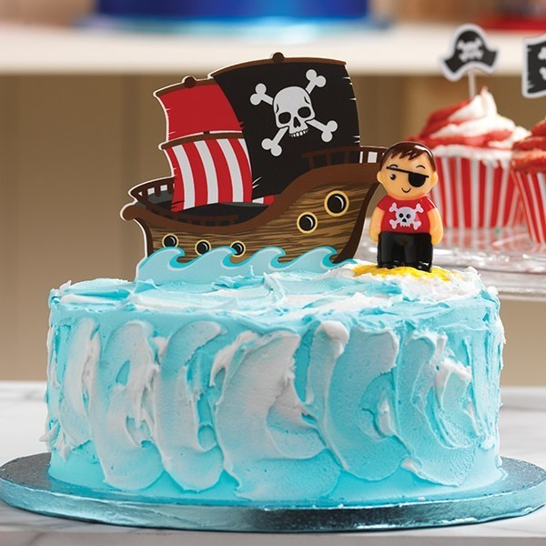 SALE!!! Baked with Love Topper -'PIRATE SHIP' -Τόπερ Πειρατικό Καράβι