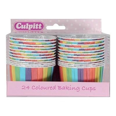 Culpitt Cupcake Baking Cups -RAINBOW -Κυπελάκια Ψησίματος 24 τεμ