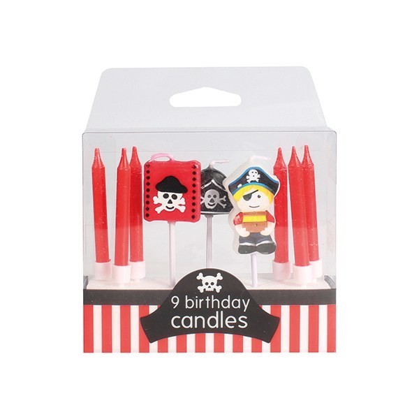 Baked With Love Candles -PIRATE Κεράκια πειρατές 9 τεμ
