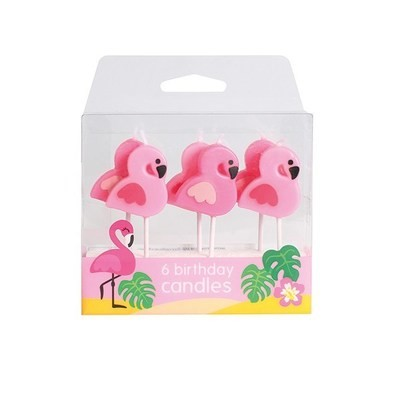 Baked With Love Candles -FLAMINGO -Κεράκια 6 τεμ
