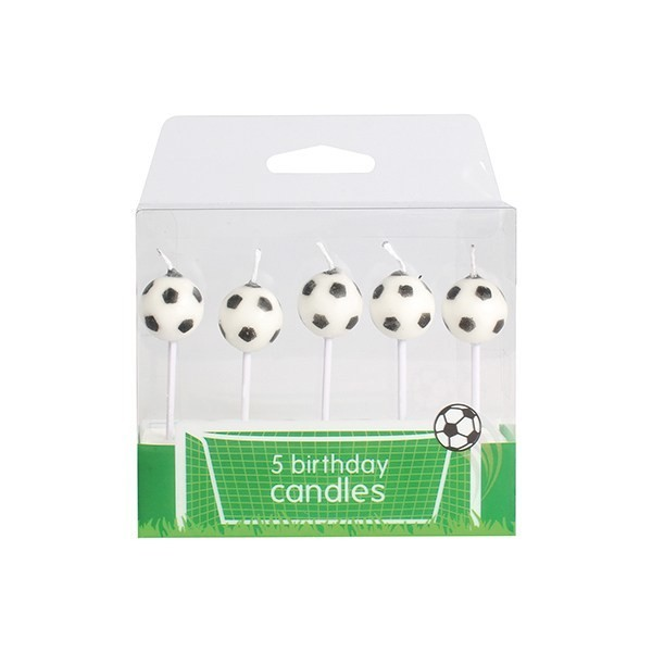 Baked With Love Candles -FOOTBALL -Κεράκια 5 τεμ