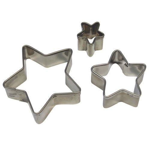 PME Geometric Basics -Set of 3 -STAR Cutters -Βασική Σειρά Κουπάτ Αστέρια 3 τεμ