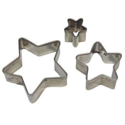 PME Basics -Set of 3 -STAR Cutters -Βασική Σειρά Κουπάτ Αστέρια 3 τεμ
