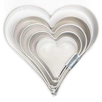 Medium Cutters -Set of 5 -HEART