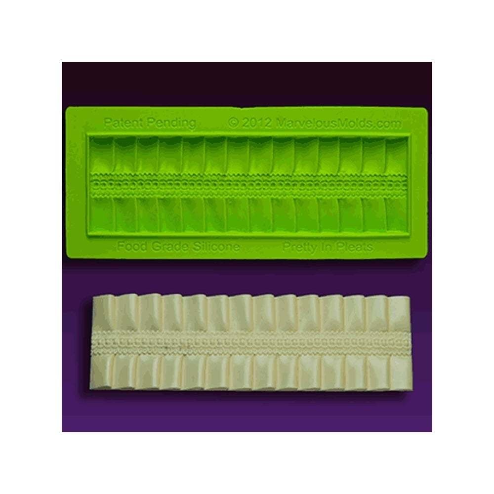 SALE!!! Marvelous Molds Silicone mould -CAKE BORDER -PRETTY IN PLEATS - Καλούπι σιλικόνης