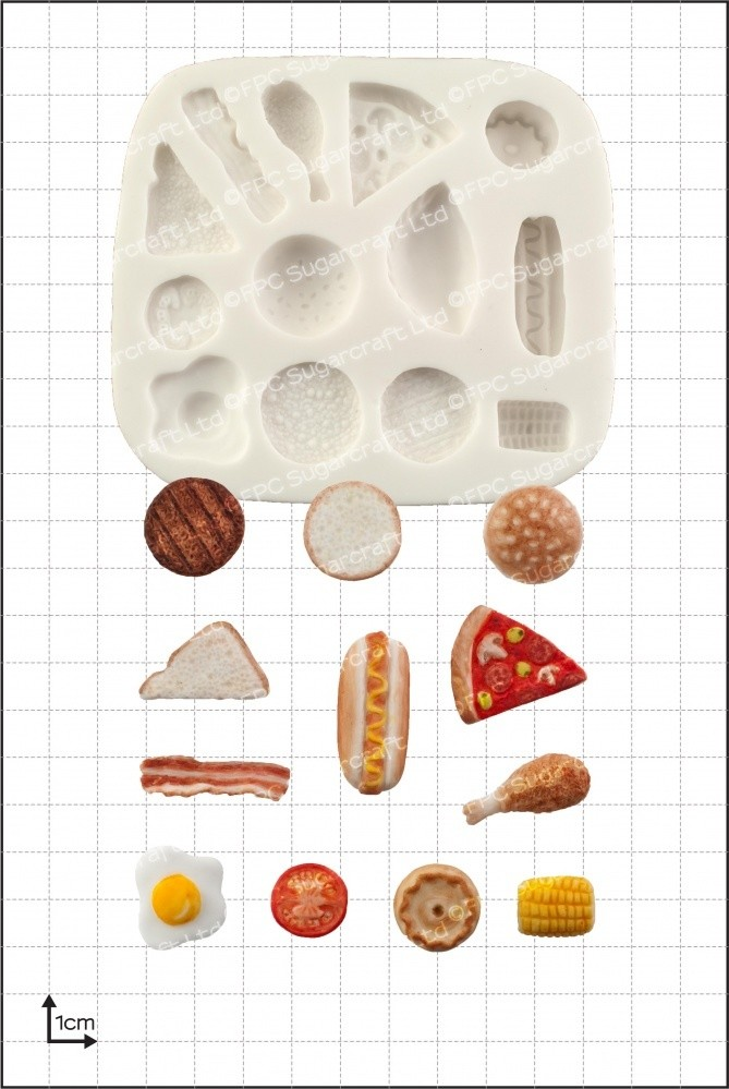 FPC Silicone Mould -MINIATURE FOOD - Καλούπι με φαγητά