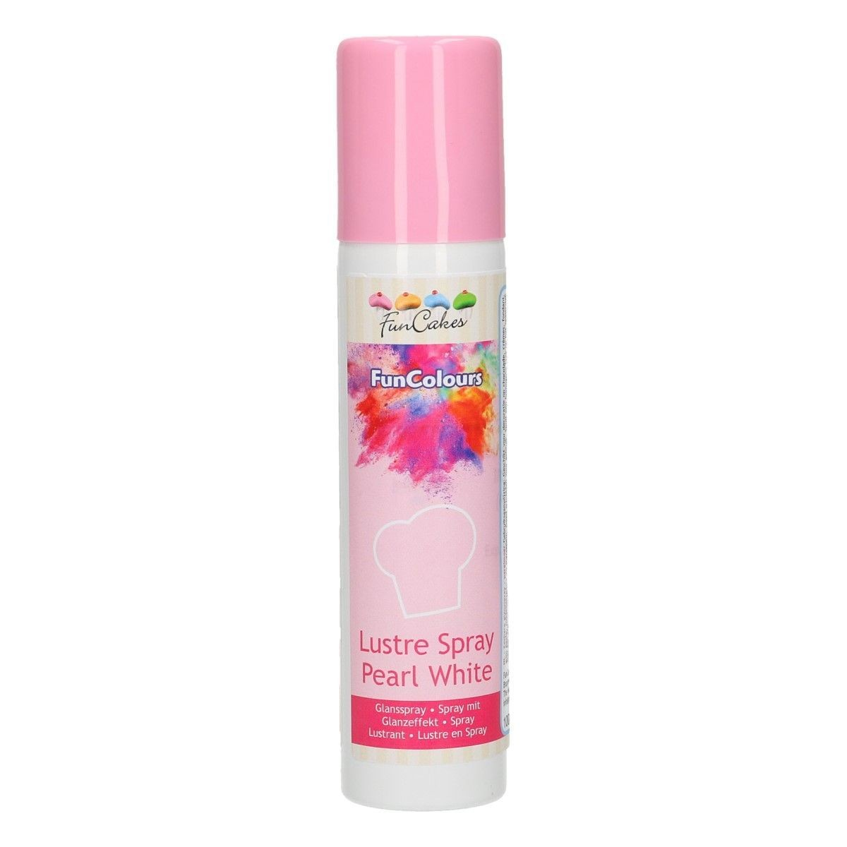 FunCakes Edible Spray -METALLIC PEARL WHITE 100ml - Σπρει Μεταλλικό Περλέ