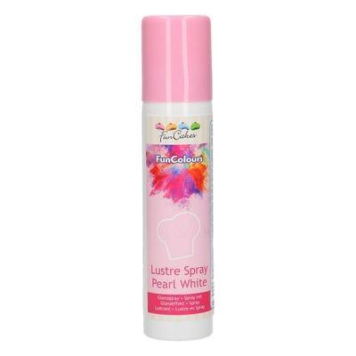 FunCakes Edible Spray -METALLIC PEARL WHITE 100ml - Σπρει Μεταλλικό Περλέ