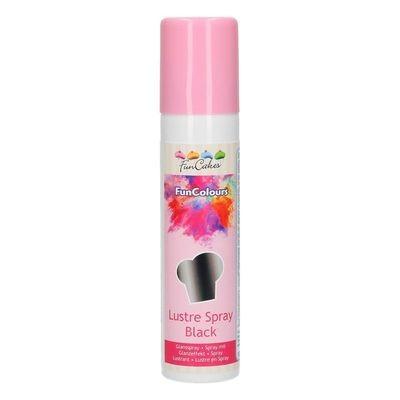 FunCakes Edible Spray -METALLIC BLACK 100ml -Μεταλλικό Μαύρο