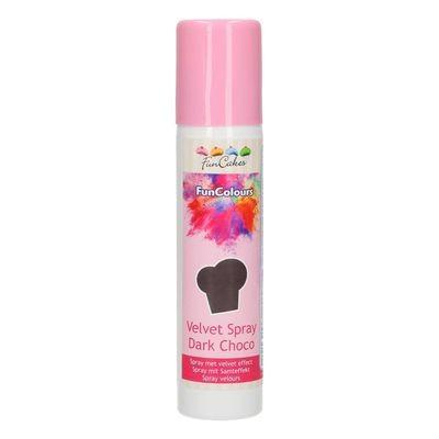 FunCakes Edible Spray -VELVET DARK CHOCOLATE 100ml - Σπρει με χρώμα Σοκολάτα Υγείας
