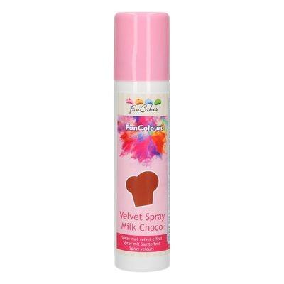 FunCakes Edible Spray -VELVET MILK CHOCO 100ml - Σπρει  με χρώμα Σοκολάτα Γάλακτος