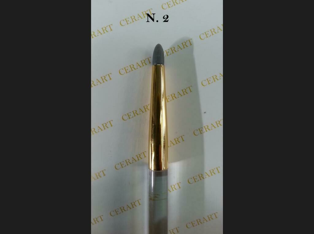 Cerart Round Tip Silicone Brush no.2 with transparent handle -Στρογγυλή βούρτσα σιλικόνης Νο 2 με διαφανή λαβή