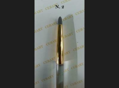 Cerart Round Tip Silicone Brush no.2 -Γκρι σκούρο βούρτσα σιλικόνης άκρη no.2