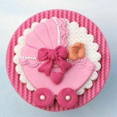 Katy Sue Silicone Mould -Sugar Buttons -PRAM - Καλούπι σιλικόνης Καροτσάκι μωρού