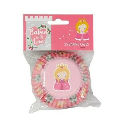 Baked With Love Baking Cases -PRINCESS - Θήκες ψησίματος μεταλλικές -Πριγκίπισσα 25 τεμ