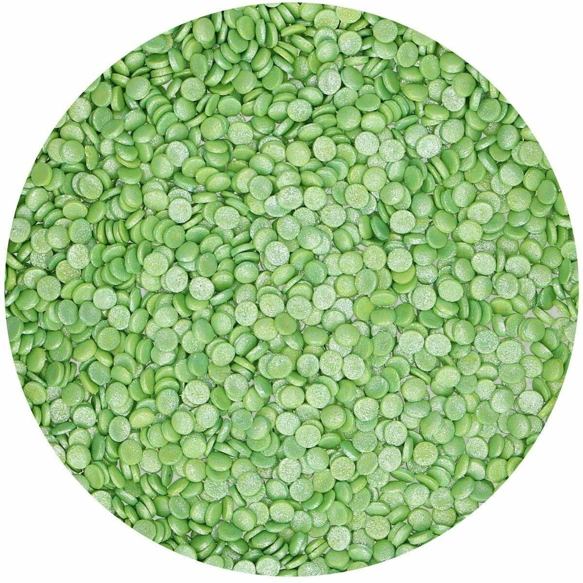 SALE!!! FunCakes Confetti Sprinkles -MINI METALLIC GREEN -Κονφετί Πράσινο Μεταλιζέ 70γρ-ΑΝΑΛΩΣΗ ΚΑΤΑ ΠΡΟΤΙΜΗΣΗ 12/2020