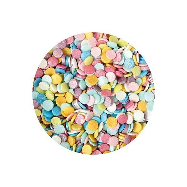 Purple Cupcakes Confetti -RAINBOW SHIMMER Sequins 70γρ - Ουράνιο Τόξο