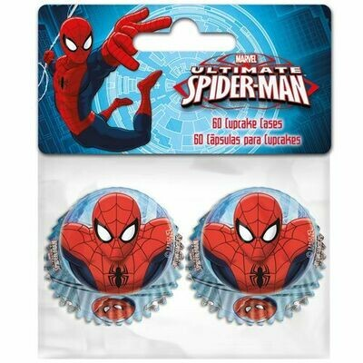 Mini Baking Cases -SPIDERMAN Μίνι Θήκες Ψησίματος 60 τεμ