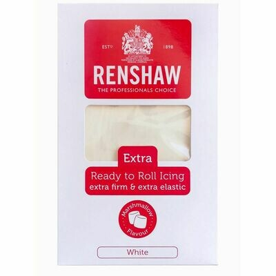 Renshaw WHITE MARSHMALLLOW FLAVOURED EXTRA FIRM SUGARPASTE FONDANT Λευκή Ζαχαρόπαστα με γεύση Μαρσμέλοου 1 κιλό