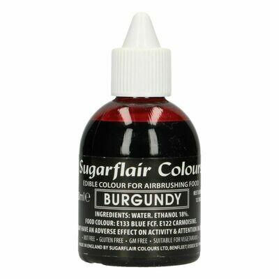 Sugarflair Airbrush Colour -MATT BURGUNDY -Χρώμα Αερογράφου ματ -Βουργουνδία 60ml